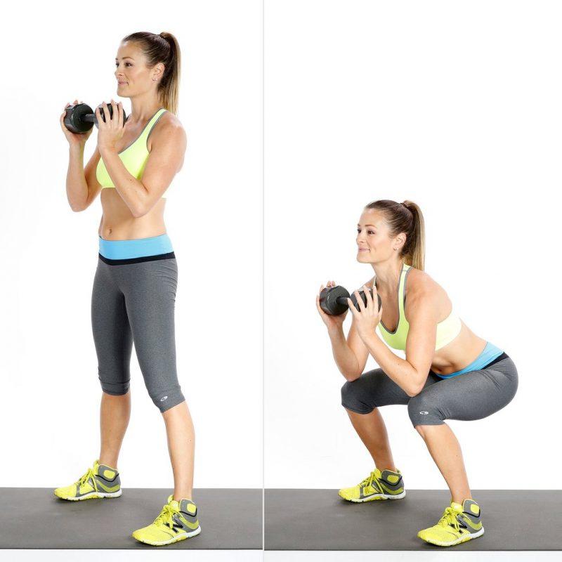 bài tập squat giảm mỡ bụng