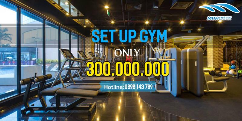 setup phòng gym 300 triệu mbh việt nam