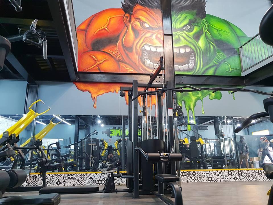 phòng gym tầm trung