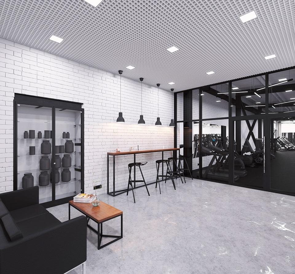 trang trí phòng gym